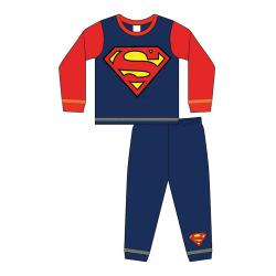 Superman Pojkar med logotyp för pyjamas 2-3 Years Röd blå