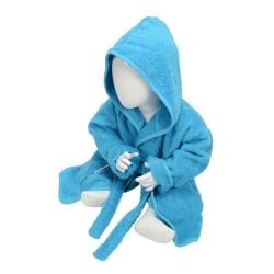 A&R Towels Baby / småbarn Babiezz Hooded badrock 3/12 Months Aqu