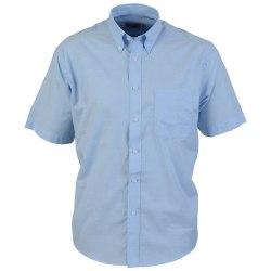 Absolute Apparel Kortärmad Oxfordskjorta för män M Ljusblå