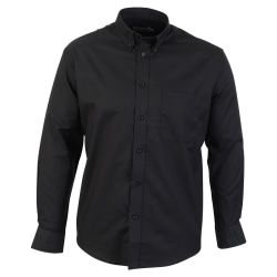 Absolute Apparel Långärmad Oxford skjorta för män L Svart