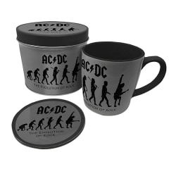 AC/DC Evolution of Rock Mug and Coaster Set One Size Grå / svart