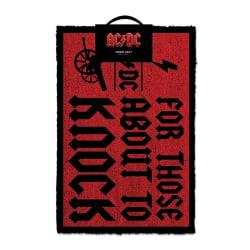 AC/DC För dem som ska knacka på dörrmatta One Size Mörkröd / sva