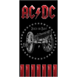 AC/DC Handduk One Size Svart röd