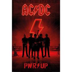 AC/DC Pwr Up-affisch One Size Röd svart