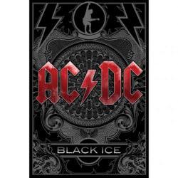 AC/DC Svart isaffisch One Size Svart röd