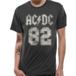 AC/DC Unisex Vuxna 82 College Design T-shirt M Svart