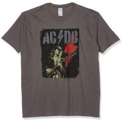 AC/DC Unisex vuxna Angus Flash Design T-shirt S Grå