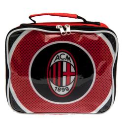 AC Milan Lunch väska 24 x 20 x 7cm Svart röd