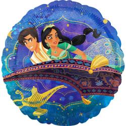 Aladdin Flying Carpet Circle Foil Balloon One Size Flerfärgade