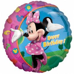 Amscan 18 tums Disney Minnie Mouse Happy Birthday Circular Foil