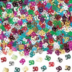 Amscan 50-årsdag mångfärgad konfetti One Size Flerfärgade