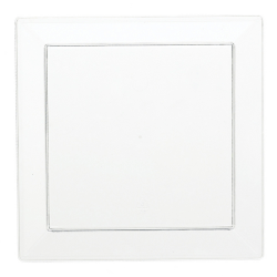 Amscan Barware Mini Square förrätt tallrikar 12.7 x 12.7cm Vit