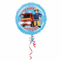 Amscan Brandman Sam födelsedag rund folie ballong One Size Blå