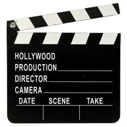 Amscan Hollywood Clapboard One Size Svart vit