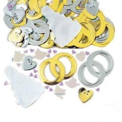 Amscan Metallic Jumbo Confetti - Brudklockor One Size Guld silve