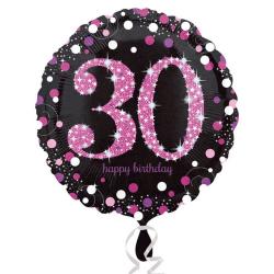 Amscan Milestone födelsedagsfirande rund folie ballong (ålder 18