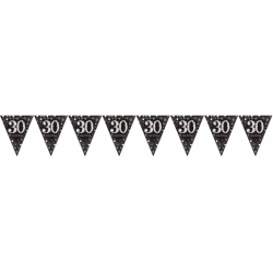Amscan Mousserande guldfirande 30-årsdag dekorativ bunting One S