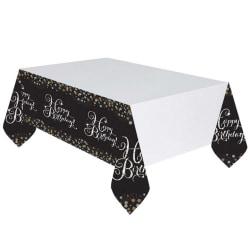 Amscan Mousserande guldfirande lycklig födelsedag Plastbordsduk