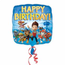 Amscan Paw Patrol Ballong med folie för lycklig födelsedag One S