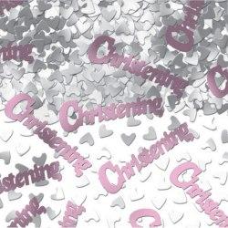 Amscan Rosa konfetti - dop One Size Silver / Pink
