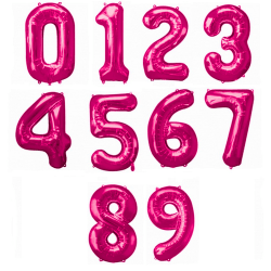 Amscan Supershape Pink Number Balloons 9 Rosa
