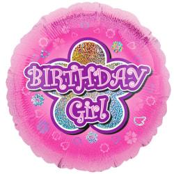 Anagram 18 tum rosa blommor födelsedag flicka cirkel folie ballo