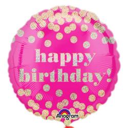 Anagram 18 tums födelsedag Dotty holografisk cirkelfolie ballong