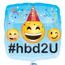 Anagram 18 tums fyrkantig Emoji Design Folie Happy Birthday Ball