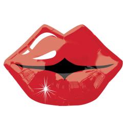 Anagram 18 tums Kissy Lips Foil Balloon One Size Röd