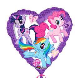 Anagram 18 tums My Little Pony Heart Foil Balloon 18 Inch Lila