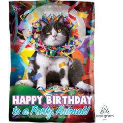 Anagram 18 tums Party Animal Cat Foil Balloon 18 inch Flerfärgad