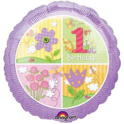 Anagram 18in 1: a födelsedagscirkelfolie ballong 18in Lila / Mul