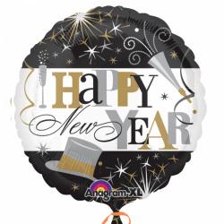 Anagram 18in Elegant firande nyårs cirkelfolieballong One Size M