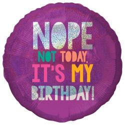 Anagram 18in födelsedag runt holografisk folie ballong 18in Lila
