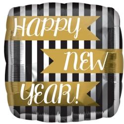 Anagram 18in Lyckligt nytt år Vertikala ränder med fyrkantig fol