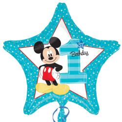 Anagram 18in Mickey Mouse 1: a födelsedagsstjärna folie ballong
