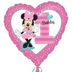 Anagram 18in Minnie Mouse 1: a födelsedag hjärtfolie ballong One