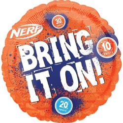 Anagram 18in Nerf Round Foil Balloon 18in Orange / Blå