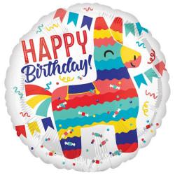 Anagram 18in Pinata Party med runda folie ballong med gratulat f