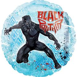 Anagram Marvel Black Panther Round Foil Balloon 18in Blå / Svart