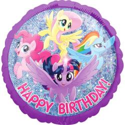 Anagram My Little Pony Happy Birthday! Rund folie ballong 18in F