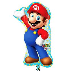 Anagram Super Mario Supershape Balloon One Size Flerfärgade