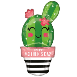 Anagram Supershape Happy Mothers Day Cactus Balloon One Size Grö