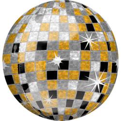Anagram Supershape Orbz Disco Ball Foil Balloon 16in Guld / silv