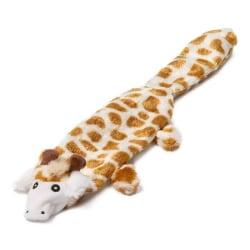Animate Flat Giraffe Plush Dog Toy 38 x 7 x 3cm Orange / Vit