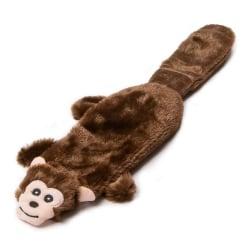 Animate Flat Monkey Plush Dog Toy 38 x 7 x 3cm Brun