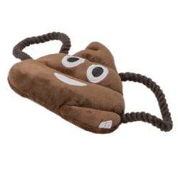 Animate Poo Emoji Plyschhundleksak One Size Brun