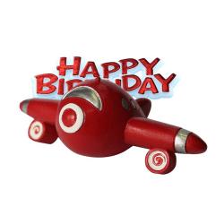 Anniversary House Grattis på födelsedagen flygplan kaka dekorati