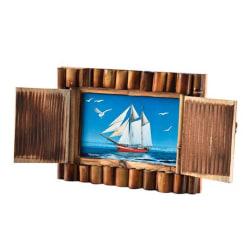 Arpan Handgjord fotokam för bambu-slutare 4 x 6 inches Brun