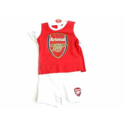 Arsenal FC Baby Short And Tee Sleep Set 9-12 Months Röd